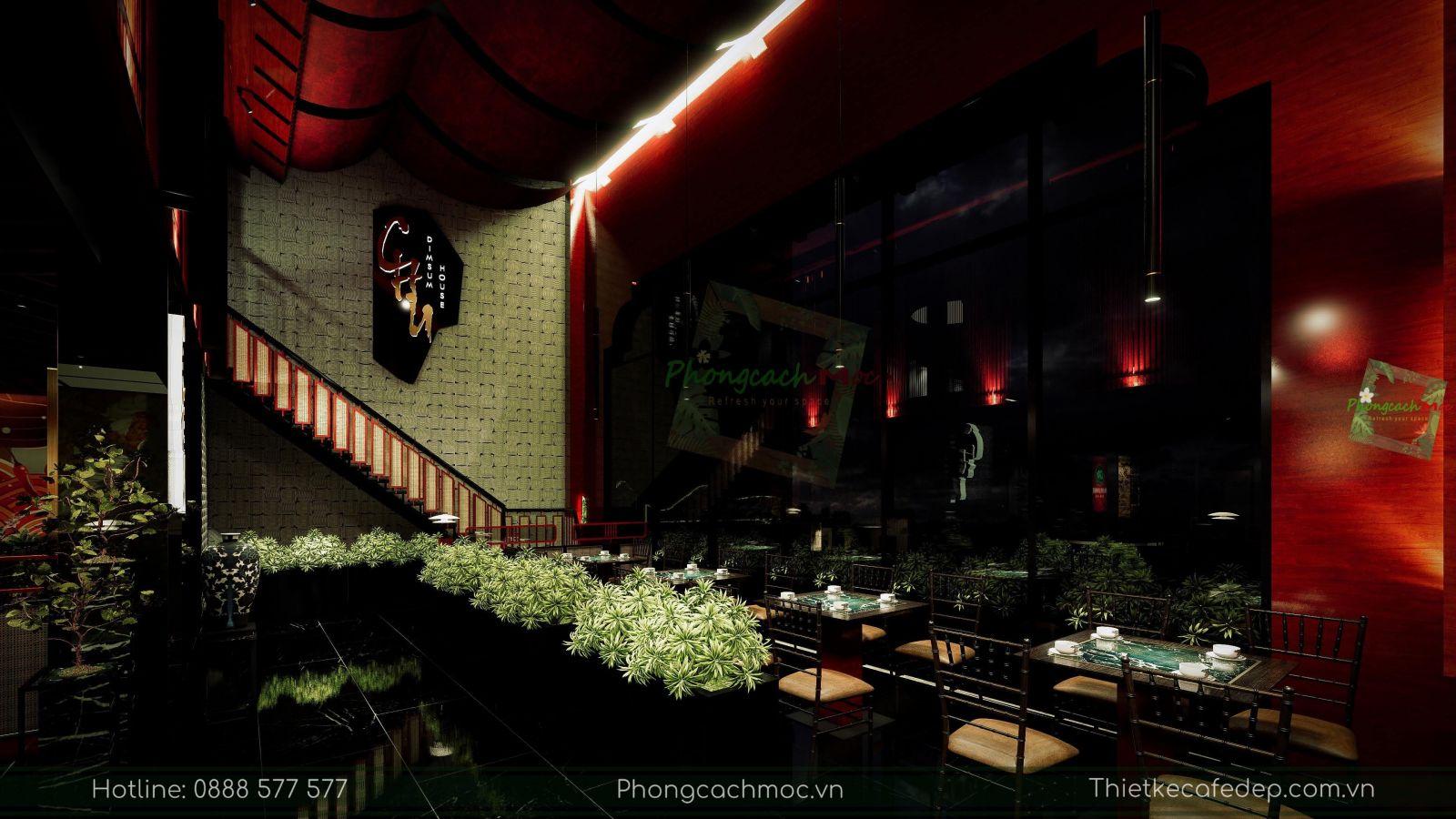 thiết kế nhà hàng trung hoa - không gian tầng trệt - nét văn hóa độc đáo - 6