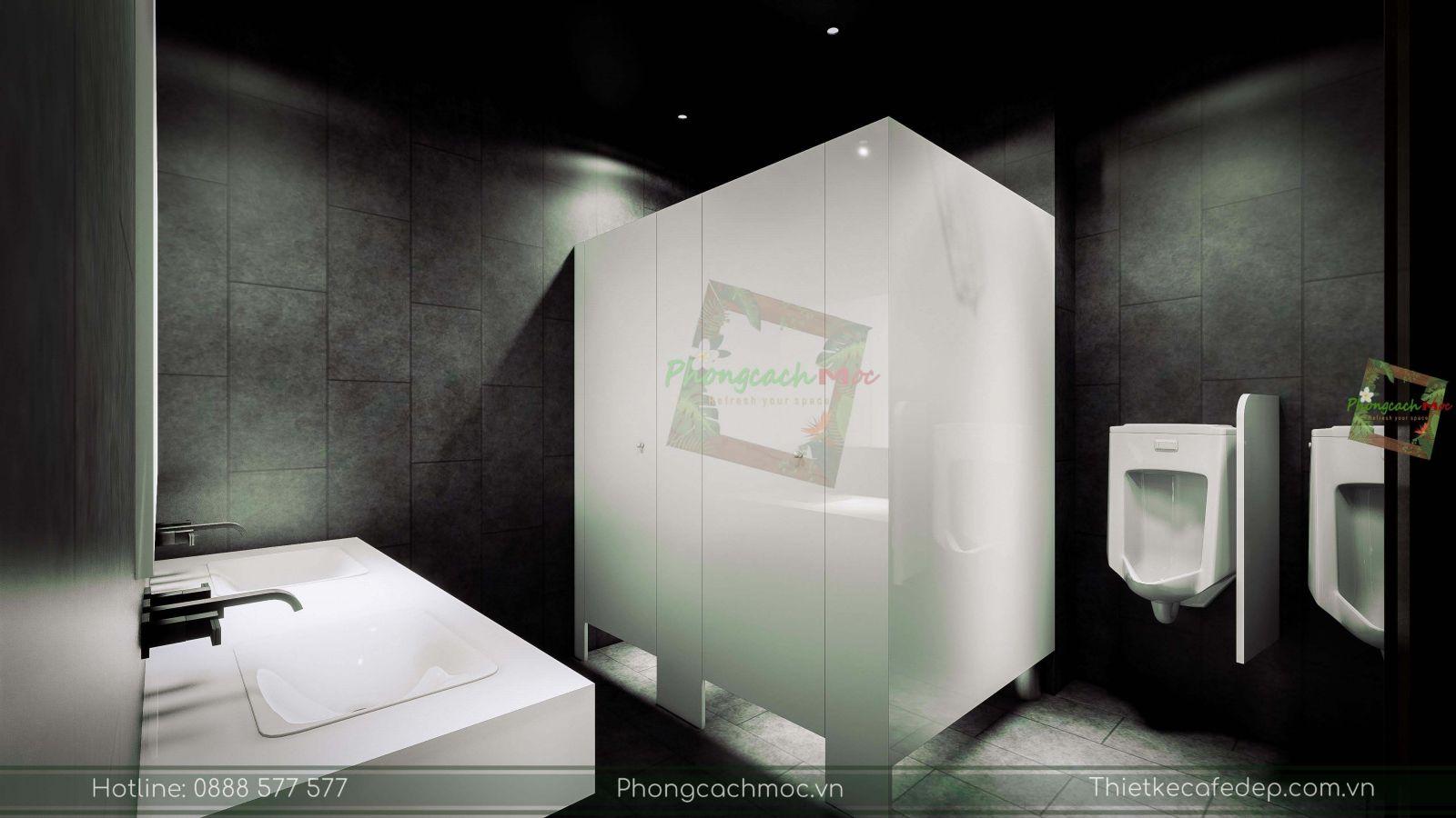 thiết kế nhà hàng trung hoa - không gian nhà vệ sinh - 2