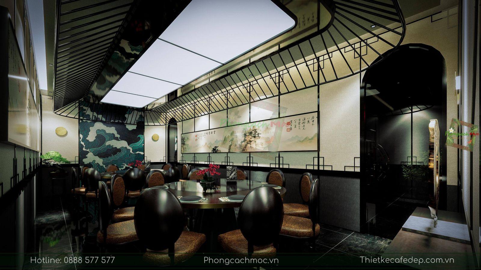 thiết kế nhà hàng trung hoa - nội thất phòng vip 2