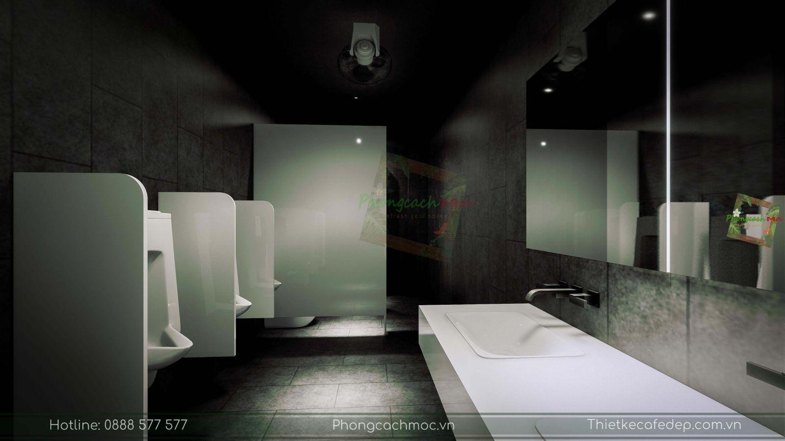 thiết kế nhà hàng trung hoa - không gian nhà vệ sinh - 3