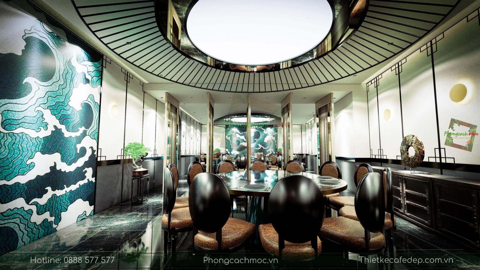 thiết kế nhà hàng trung hoa - nội thất phòng vip 1