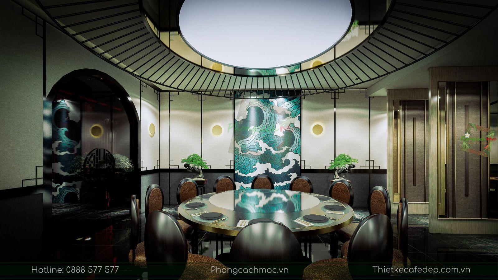 thiết kế nhà hàng trung hoa - nội thất phòng vip 1 - 6