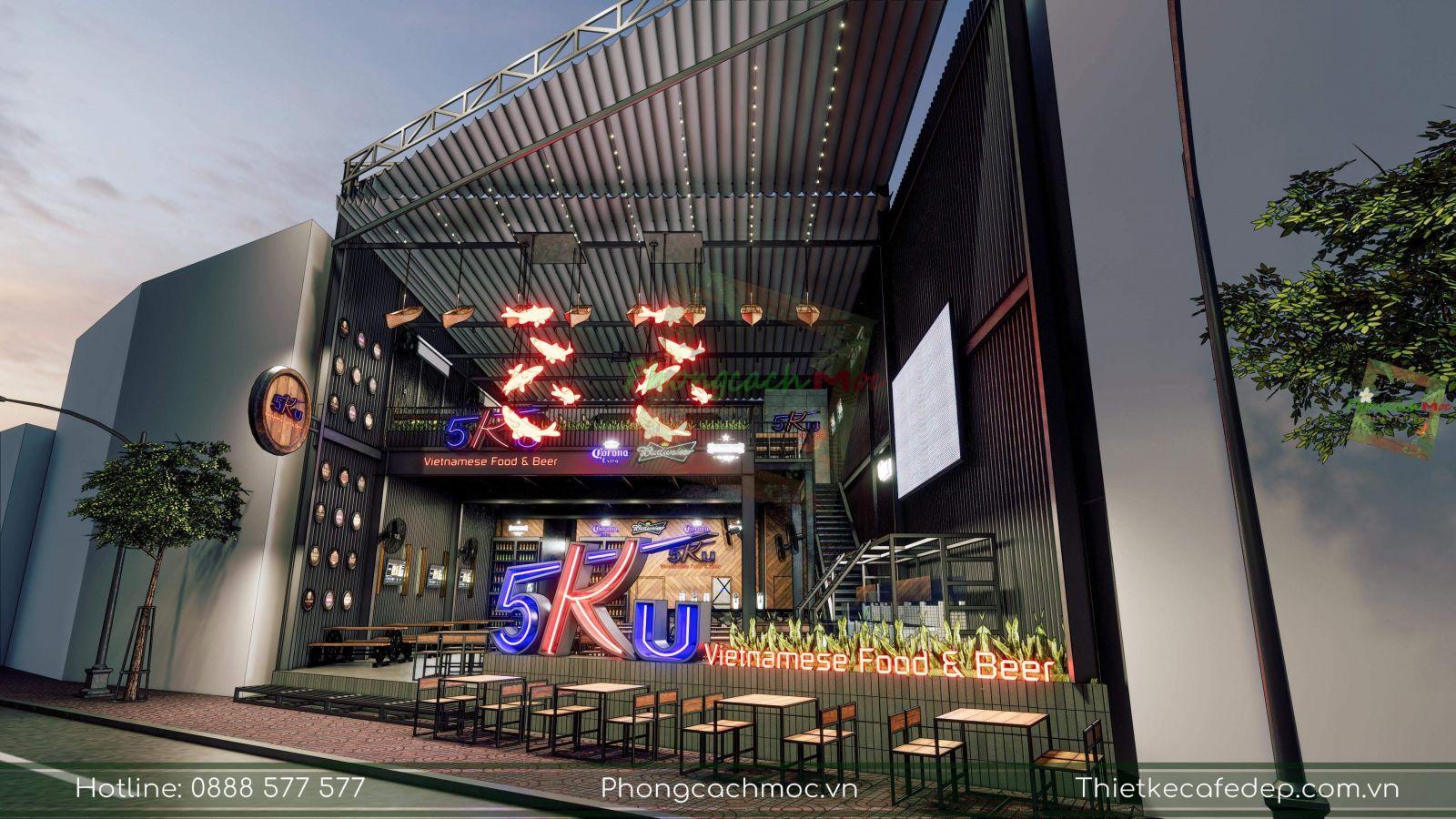 pcm thiết kế nhà hàng 5ku tại quận 1 tphcm
