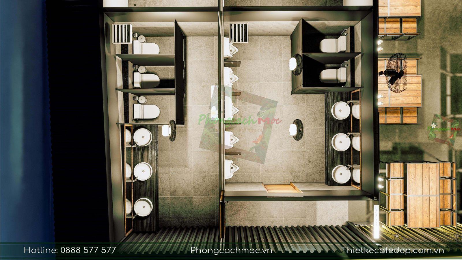 thiết kế nhà hàng 5ku chủ đề nhà thép tiền chế