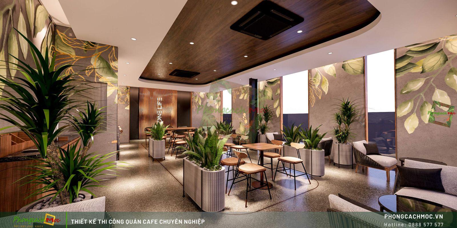 Thiết kế quán cafe One Life