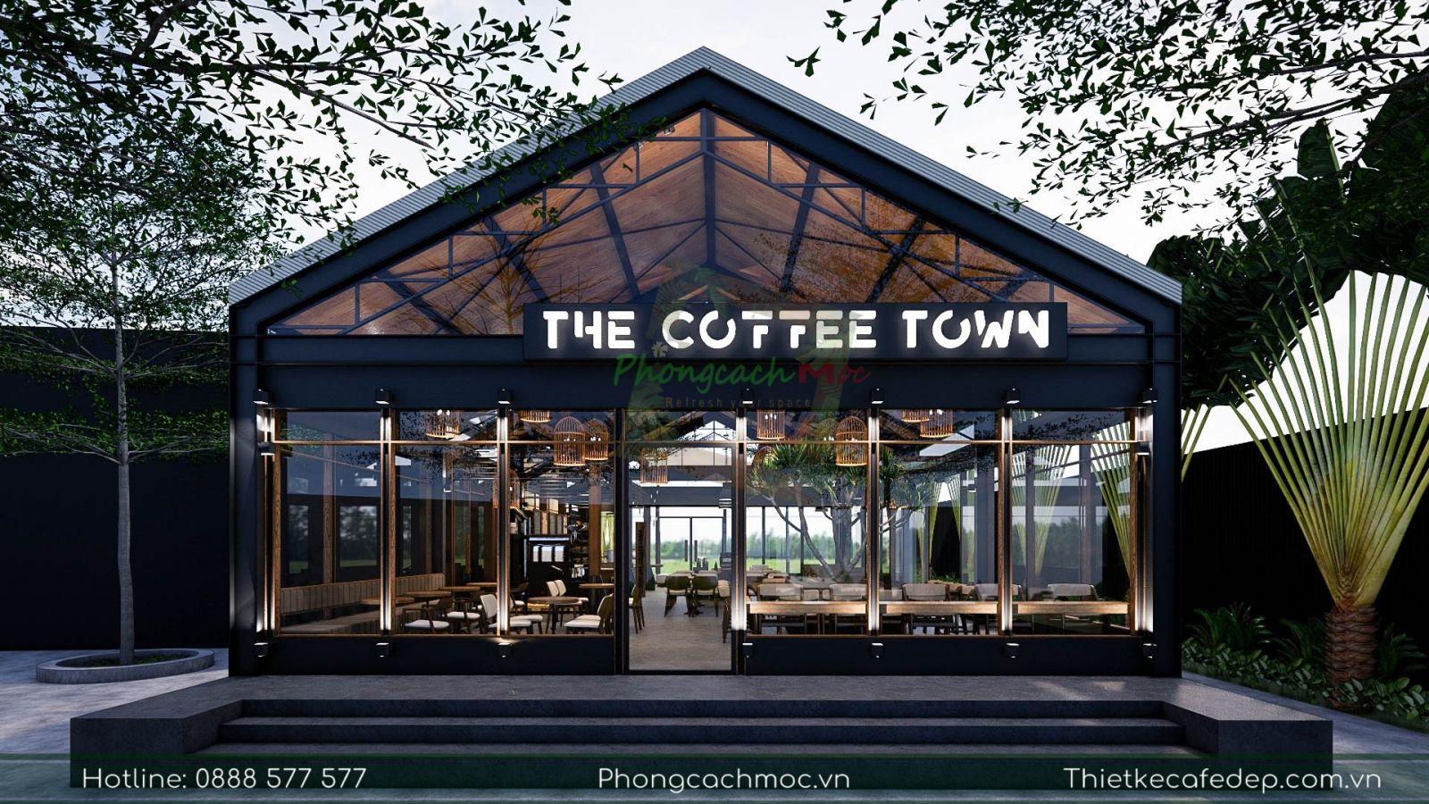 pcm thiết kế quán cafe the coffee town tại quận 7 tphcm