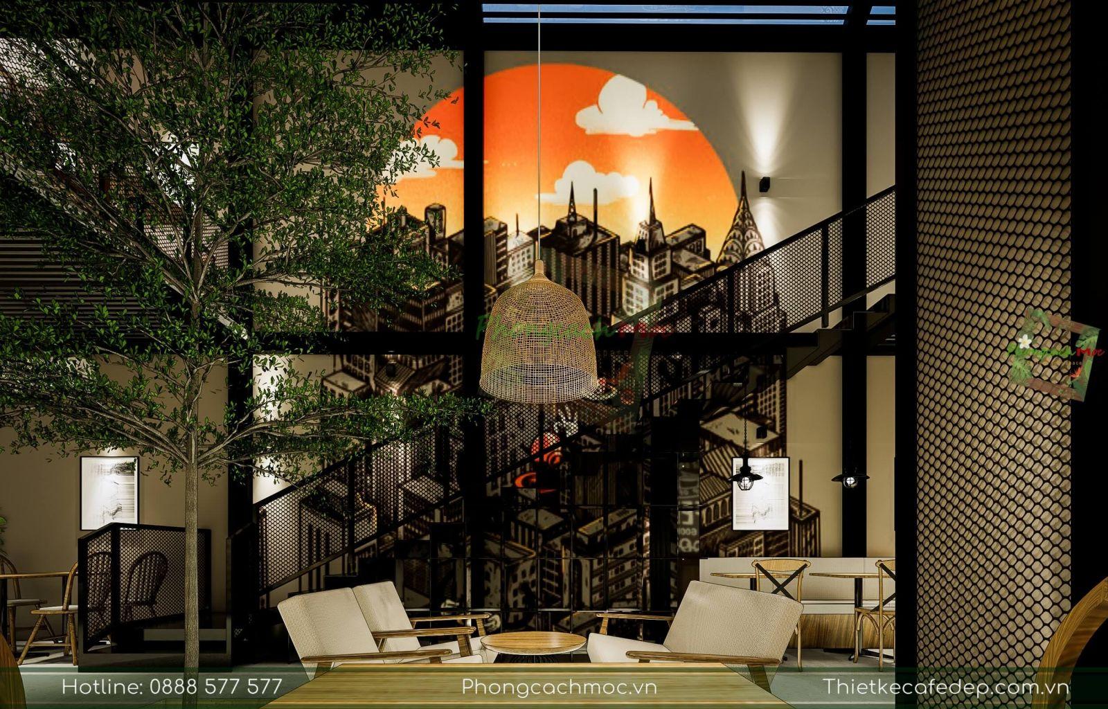 trang trí nội thất quán cafe kết hợp khu vui chơi
