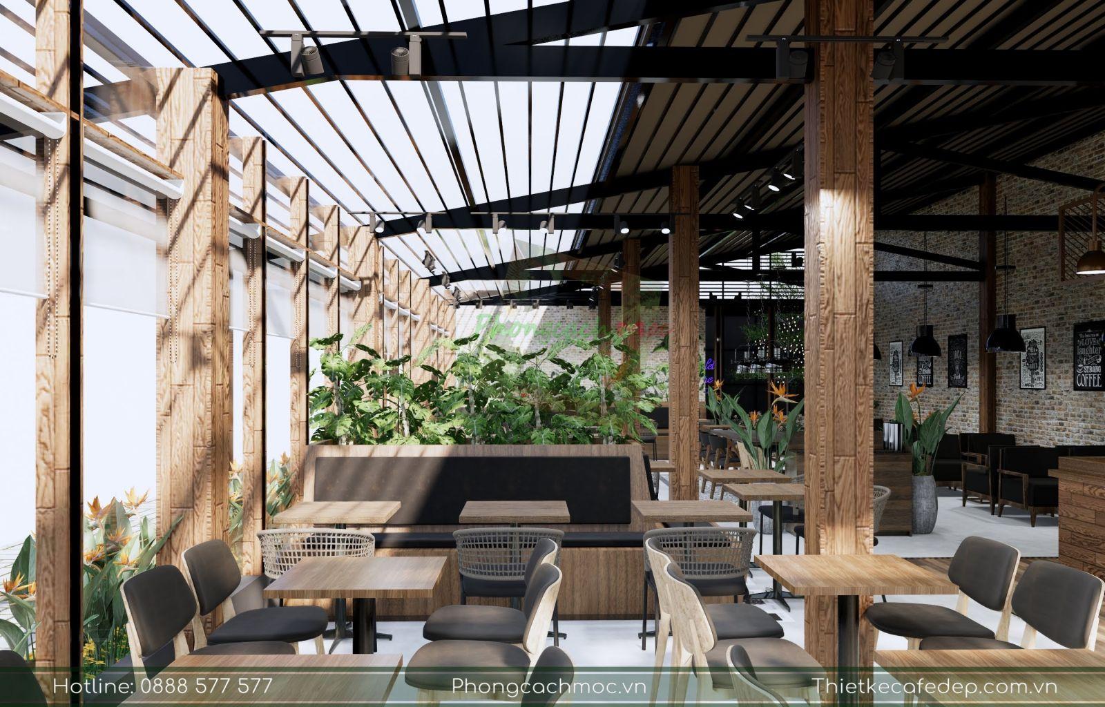 thiết kế bàn ghế nội thất quán cafe gapu