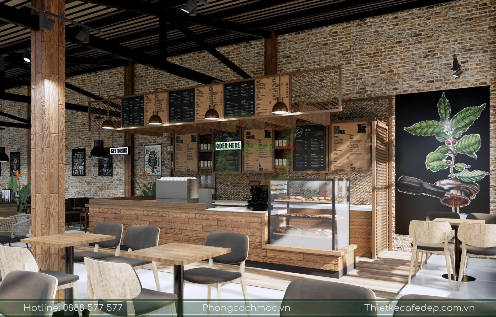 pcm thiết kế quán cà phê gapu coffee tại bình phước