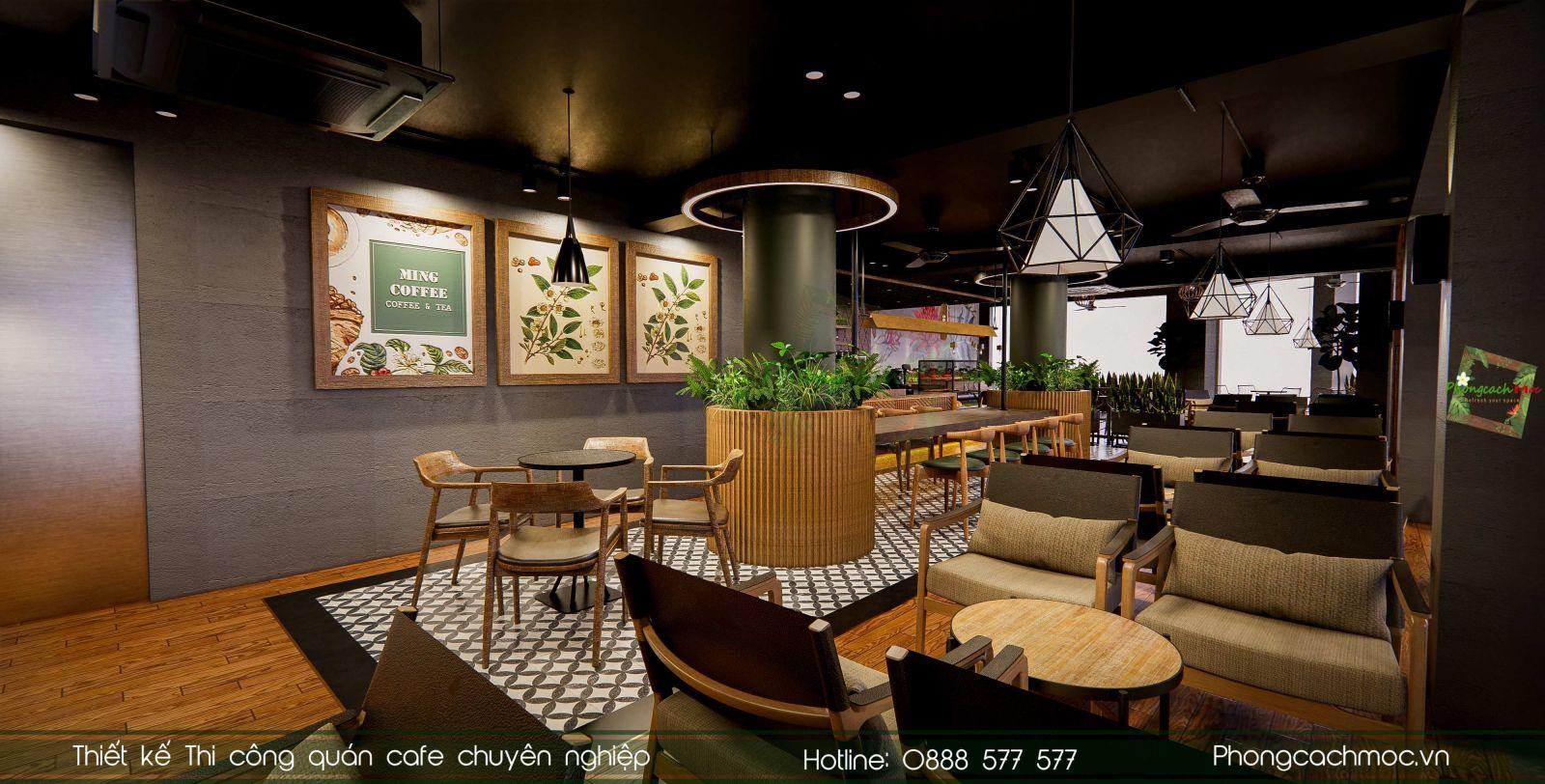  Thiết kế quán cafe Ming Coffee | Phong Cách Mộc  Click and drag to move 