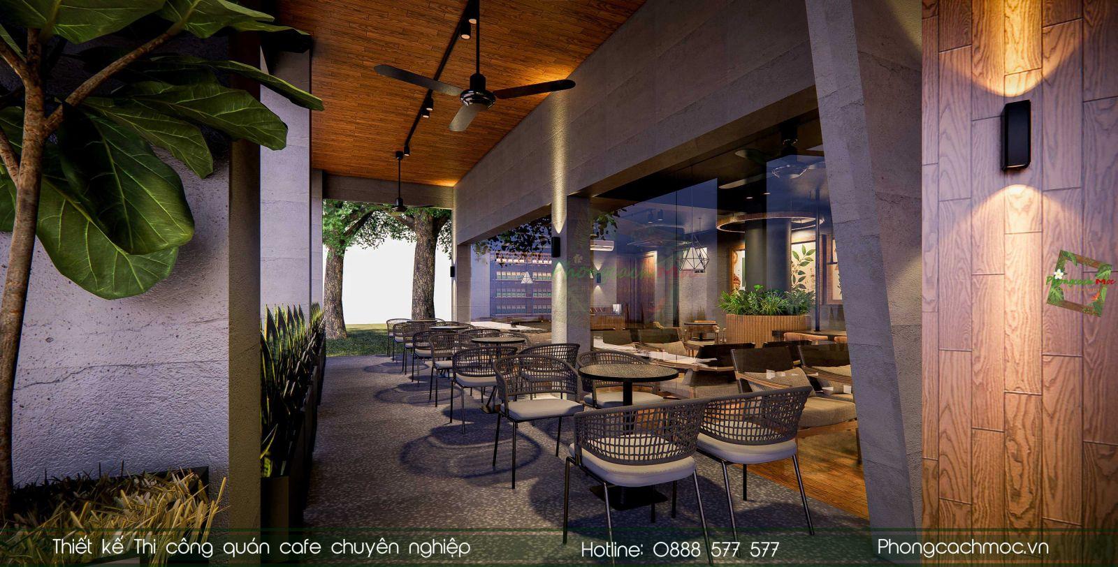 Thiết kế quán cafe Ming Coffee | Phong Cách Mộc