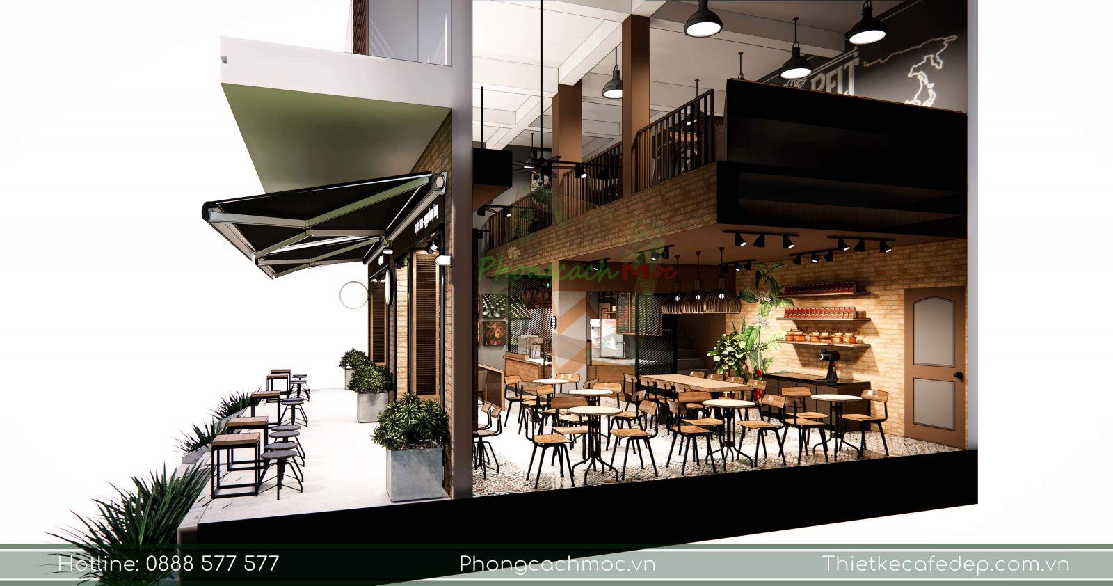 tận dụng lợi thế quán cà phê nguyên bảo có diện tích 110m2