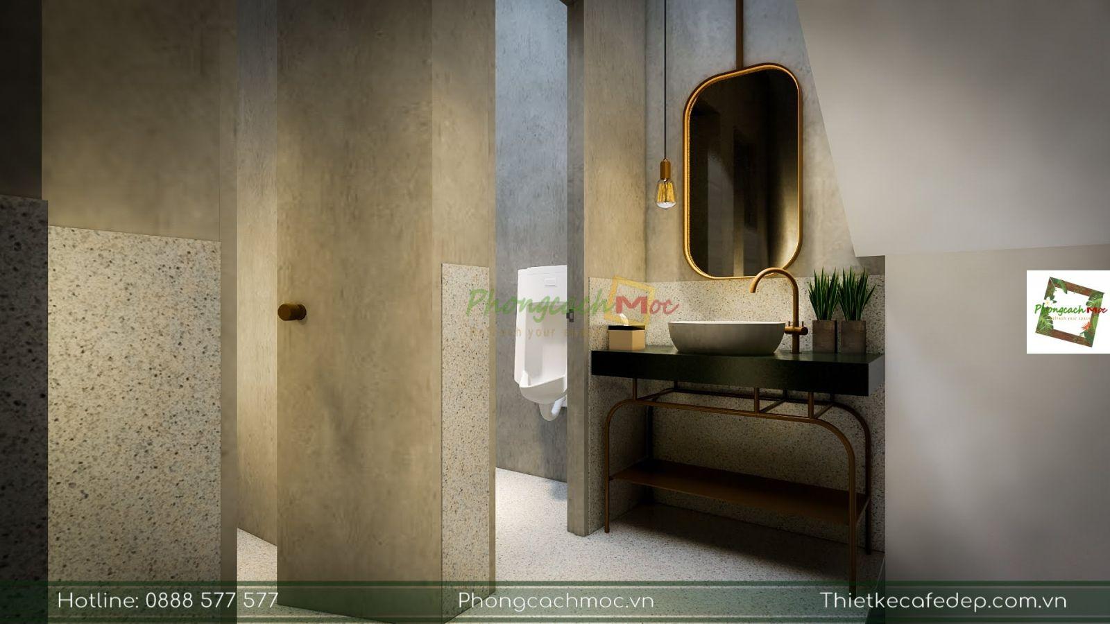 thiết kế khu vực nhà vệ sinh tại quán