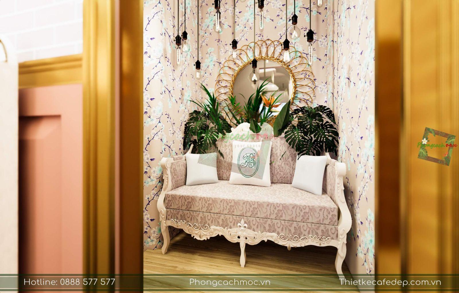 trang trí nội thất quán cà phê tại đà lạt
