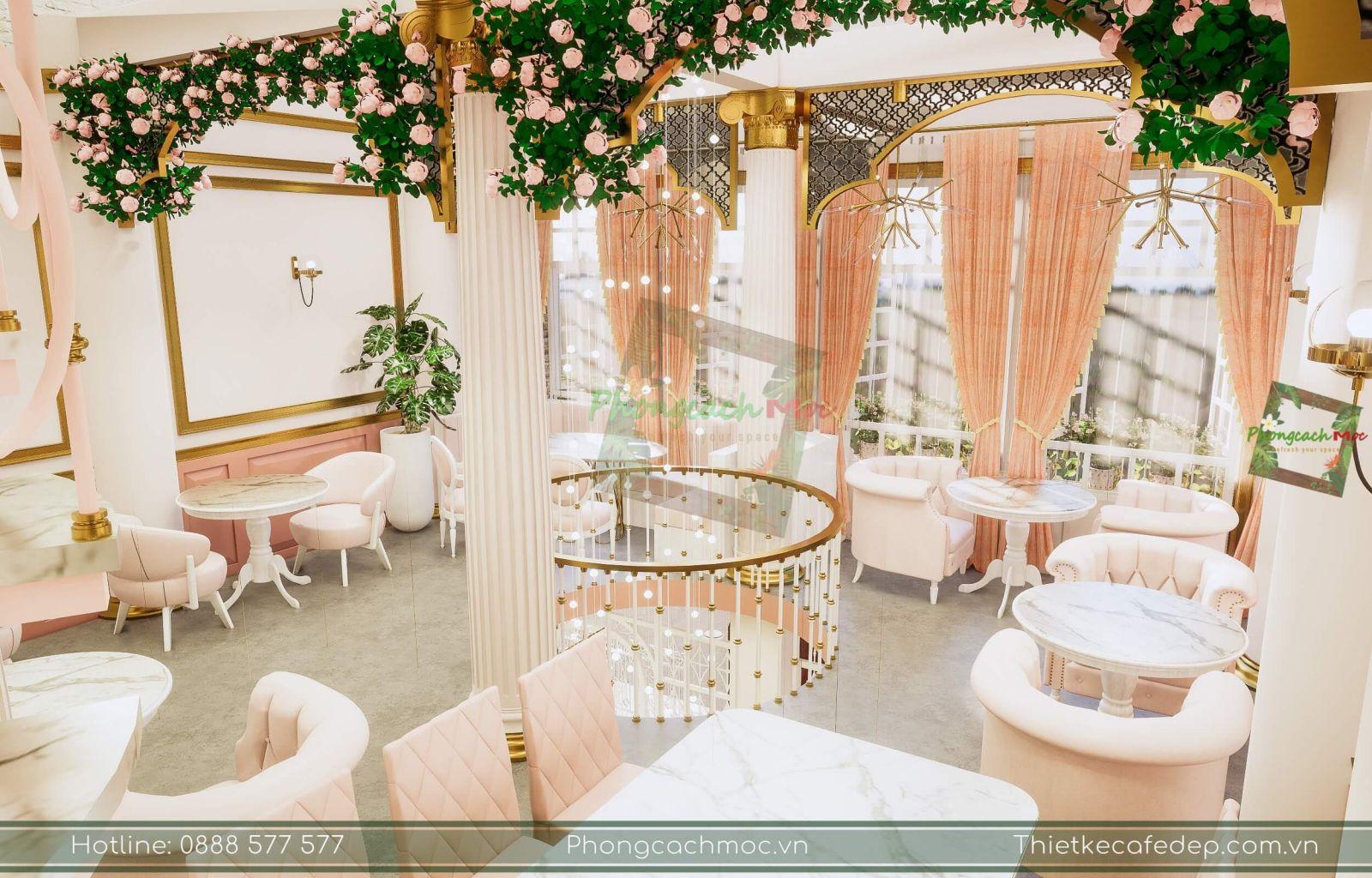 mẫu thiết kế nội thất quán cafe tân cổ điển - romeo and juliet coffee