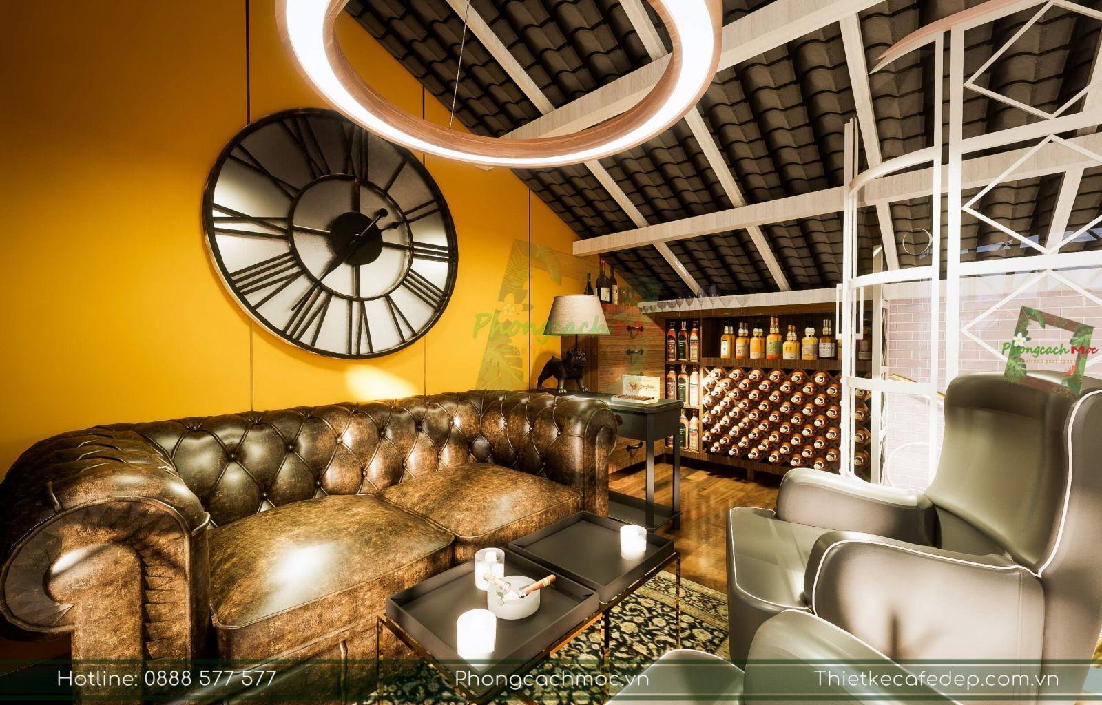 pcm thiết kế không gian nội thất tầng 2 quán cafe tại đà lạt