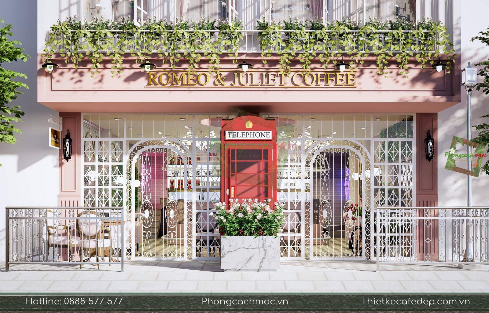 phong cách mộc thiết kế quán cafe chủ đề tân cổ điển diện tích 160m2