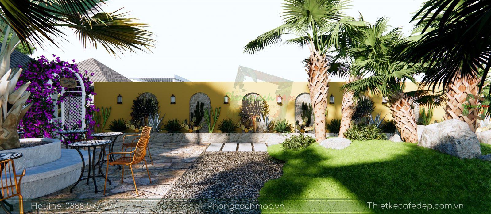 thiết kế quán cafe sân vườn 1700m2