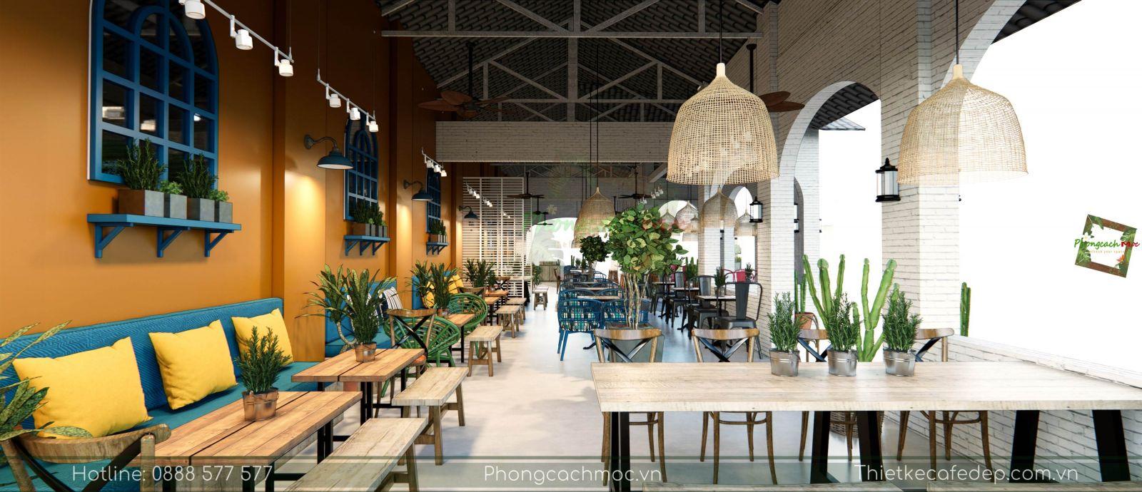 thiết kế quán cafe địa trung hải không gian phòng lạnh - 9