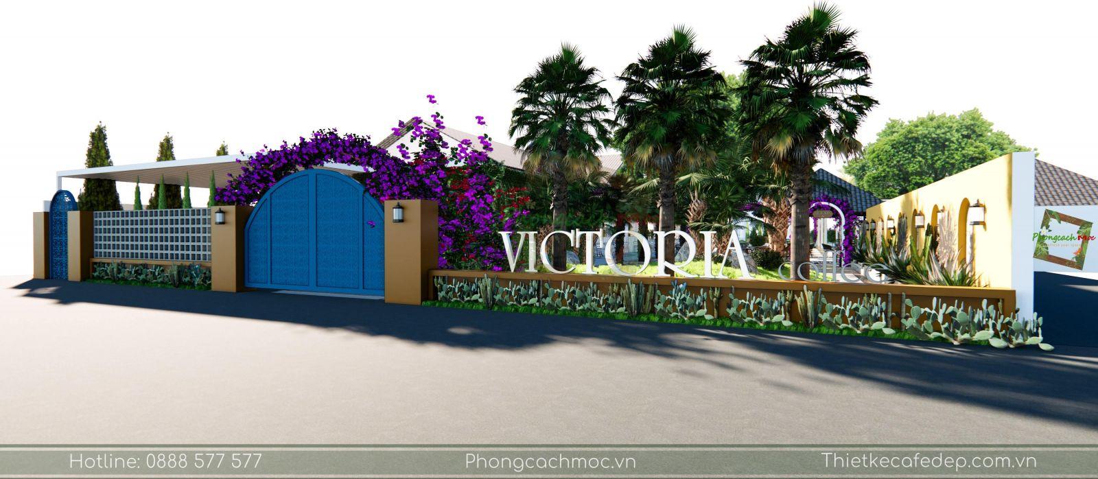thiết kế quán cafe victoria coffee tại long an