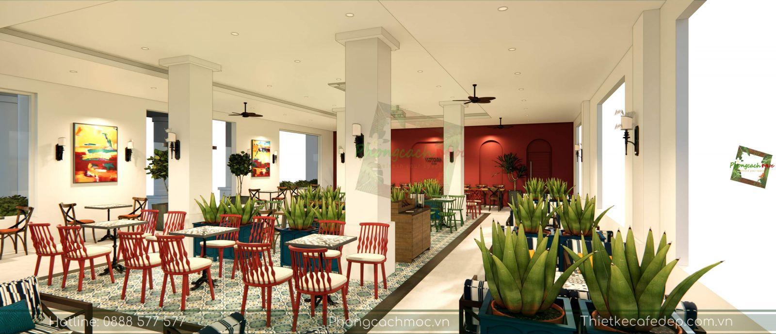 thiết kế quán cafe victoria coffee không gian phòng lạnh - 4