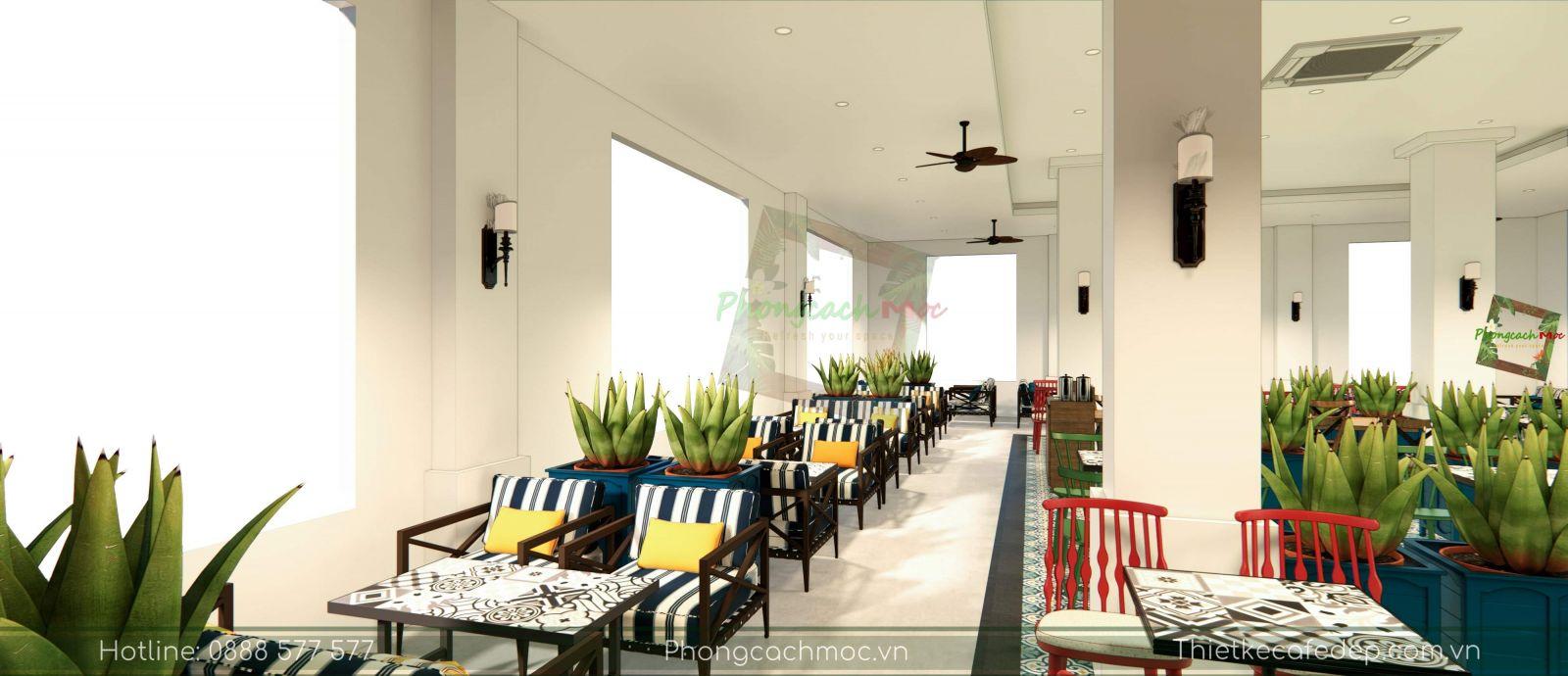 thiết kế quán cafe victoria coffee không gian phòng lạnh - 8