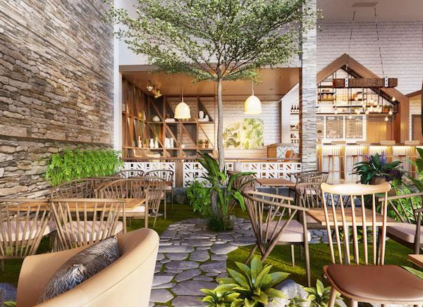 mẫu bàn ghế gỗ cafe sân vườn chủ đầu tư có thể lựa chọn