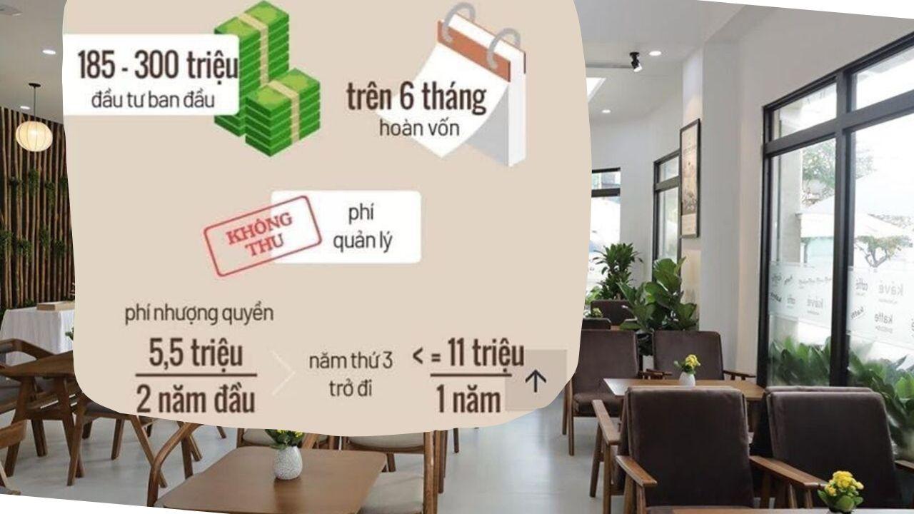 chi phí nhượng quyền thương hiệu quán cafe