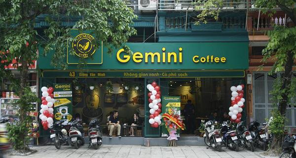mô hình thương hiệu quán cafe gemini coffee