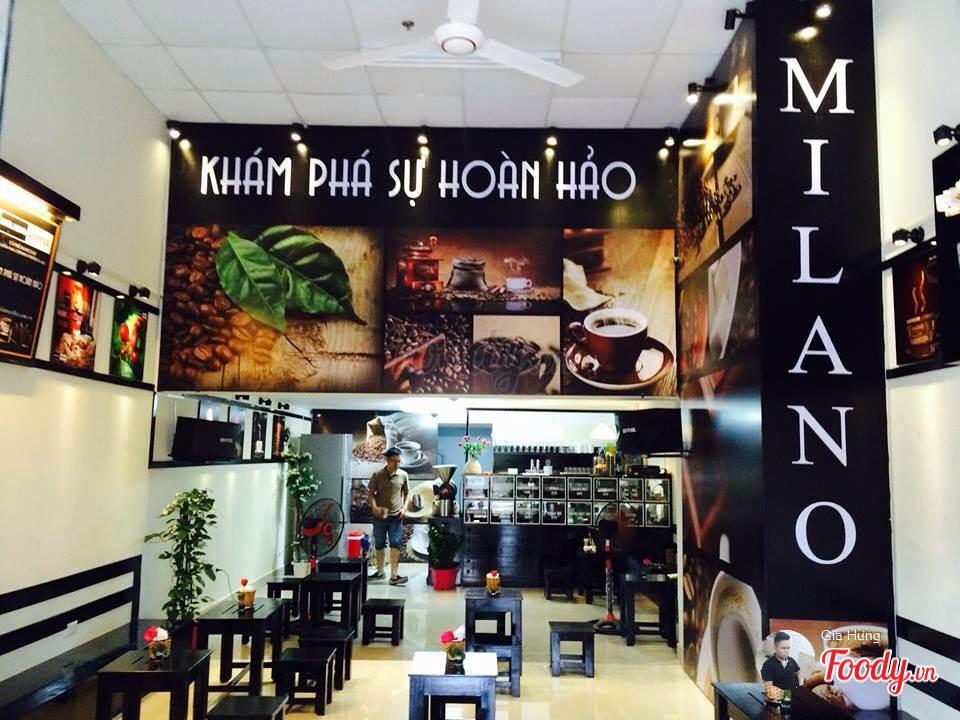 mô hình quán milano coffee