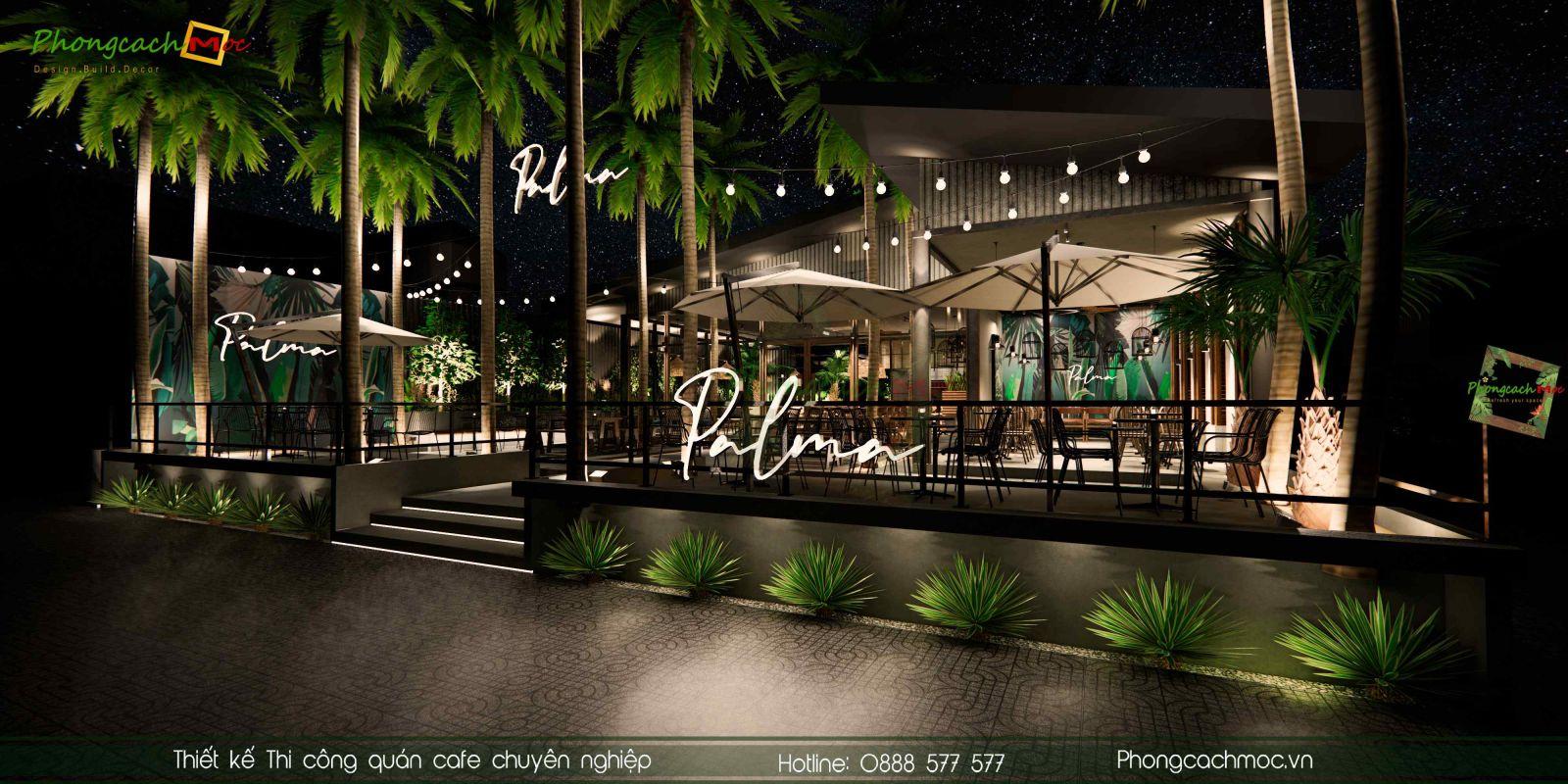 Thiết kế quán cafe hiện đại Palma