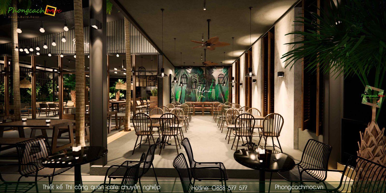Thiết kế không gian quán cafe hiện đại
