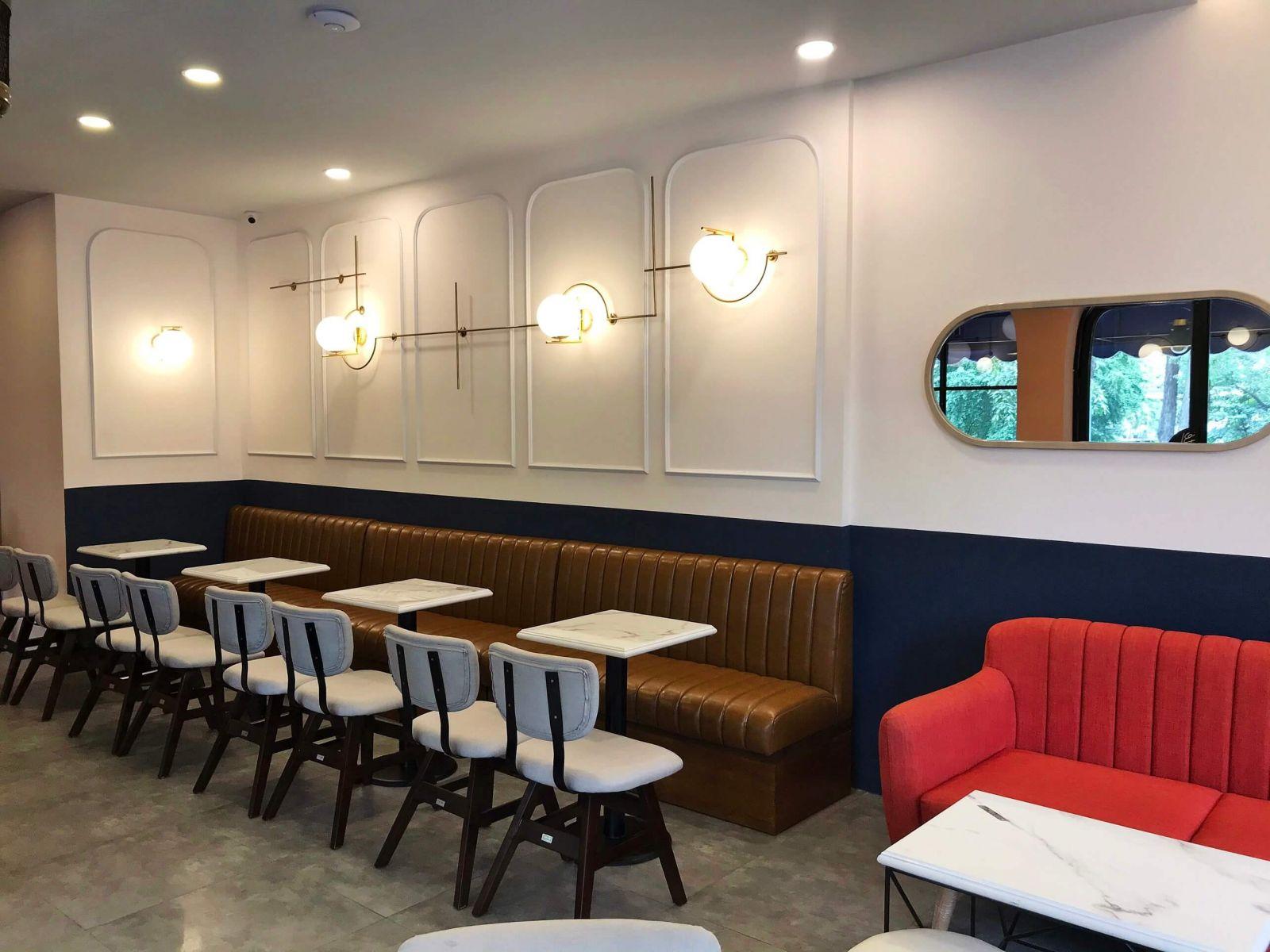 không gian phòng lạnh quán cafe hiện đại - felicite coffee