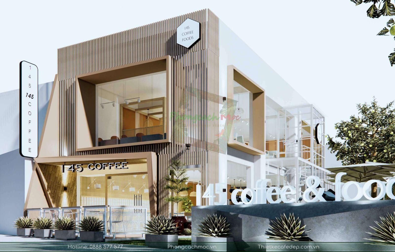 mẫu quán cafe thiết kế phong cách hiện đại