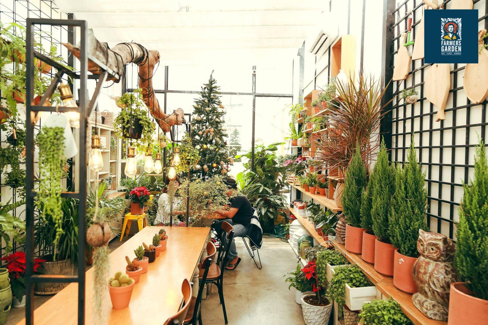 không gian nội thất quán farmer coffee tại quận 3 tphcm