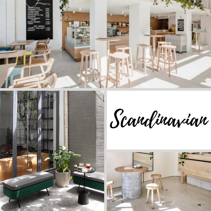 phong cách thiết kế quán cafe scandinavian