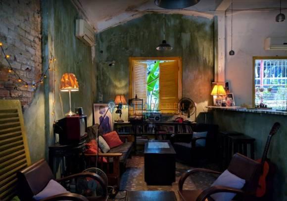 không gian nội thất quán things coffee theo phong cách indochine