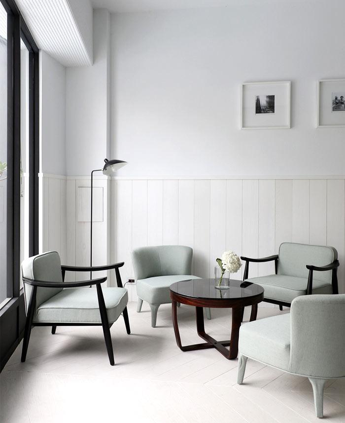 không gian sang trọng của quán cafe scandinavian