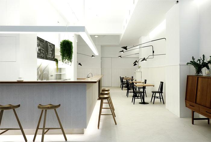 thiết kế khu vực quầy bar pha chế quán cafe