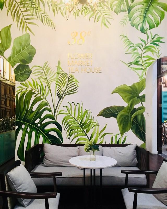 không gian nội thất quán cafe nhiệt đới tại tphcm