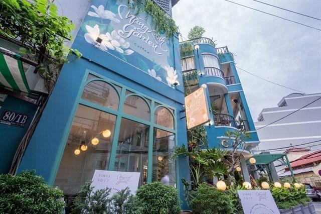 thiết kế quán cafe tropical tại tphcm