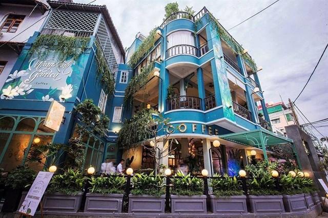quán cafe nắng xanh thiết kế phong cách tropical