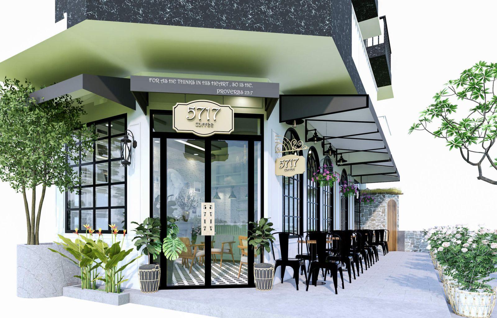 mẫu thiết kế quán cafe tropical
