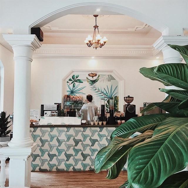 không gian quán tròn cafe - thiết kế với phong cách tropcial